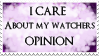 I care - Stamp by WolfHearts