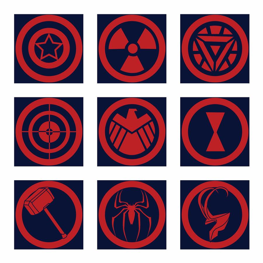 Avengers black widow symbol - photo#25