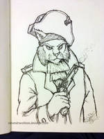 Inktober 2016 - Day 3: Captain Nathaniel J. Claw by StevenDrawsThings