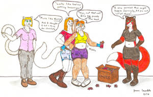 Leslie's Chocolate Addiction 2 - Getting Larger! by AnthroLoverJay