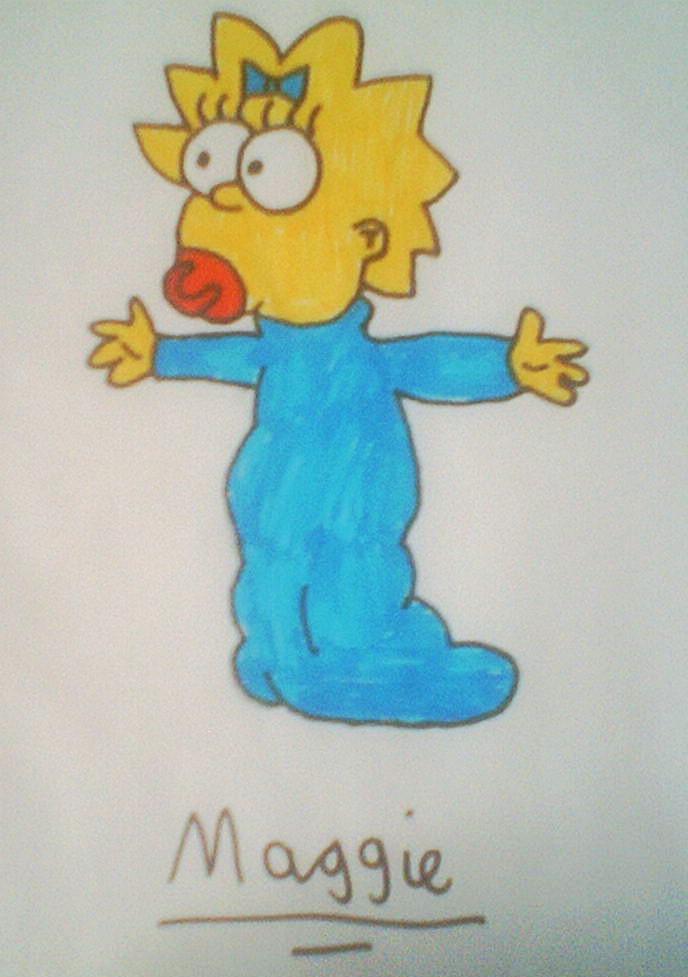 Maggie simpson by Jellybabiebunny