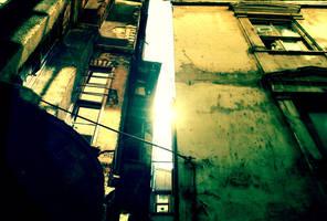 between the old buildings by Sequ-ELA