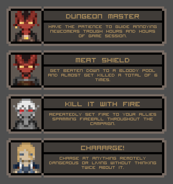 DnD Achievements by RestlessLynx