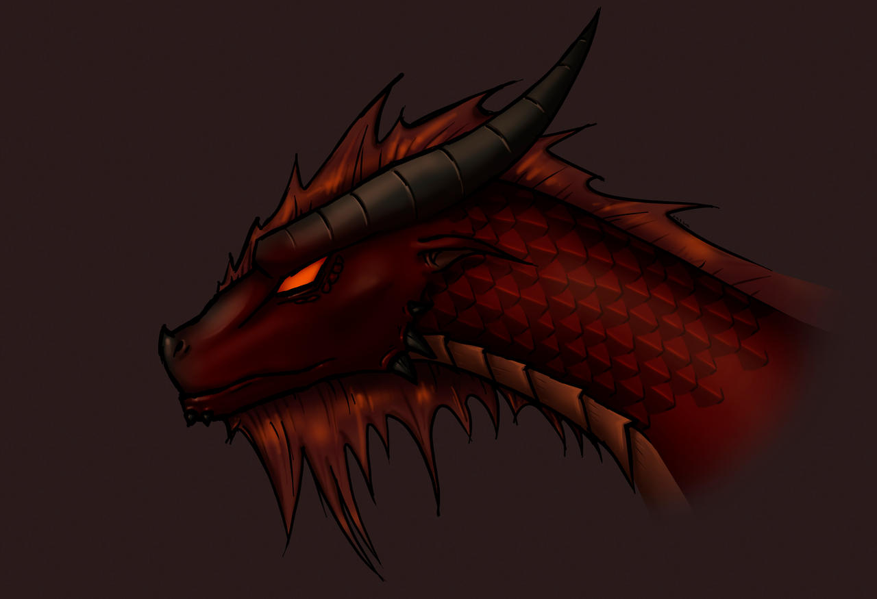 red dragon portrait by RestlessLynx