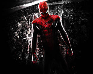 The Amazing Spider-Man. Wallpaper. Red
