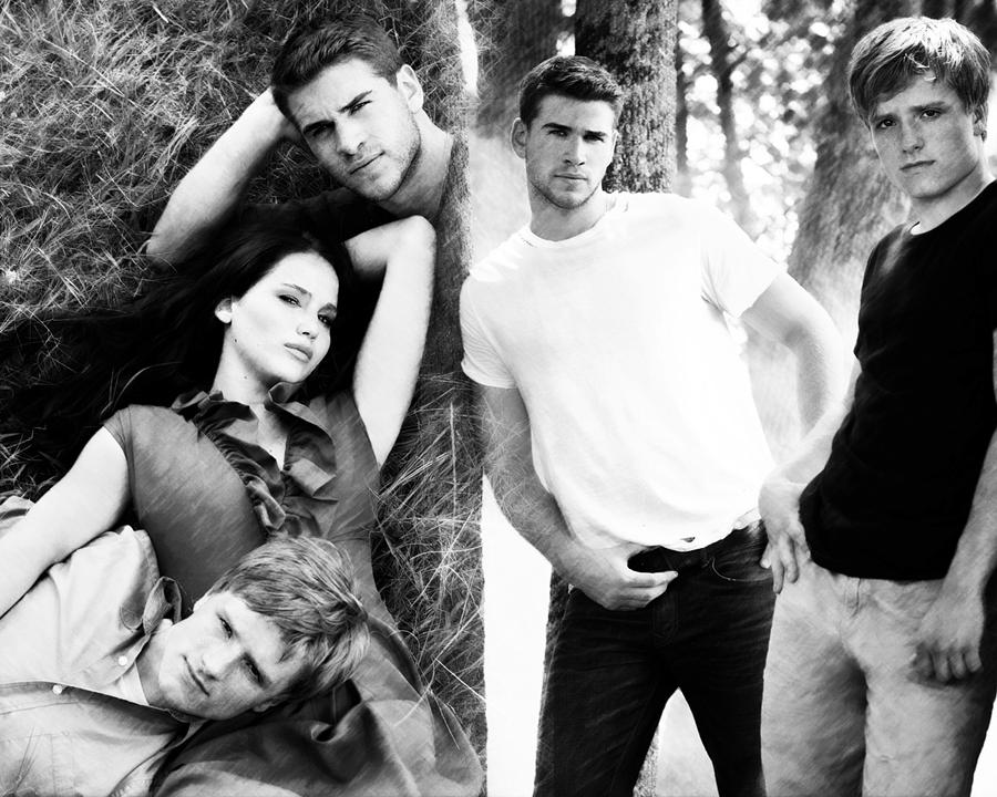 The Hunger Games. Katniss, Gale and Peeta 2 by StalkerAE