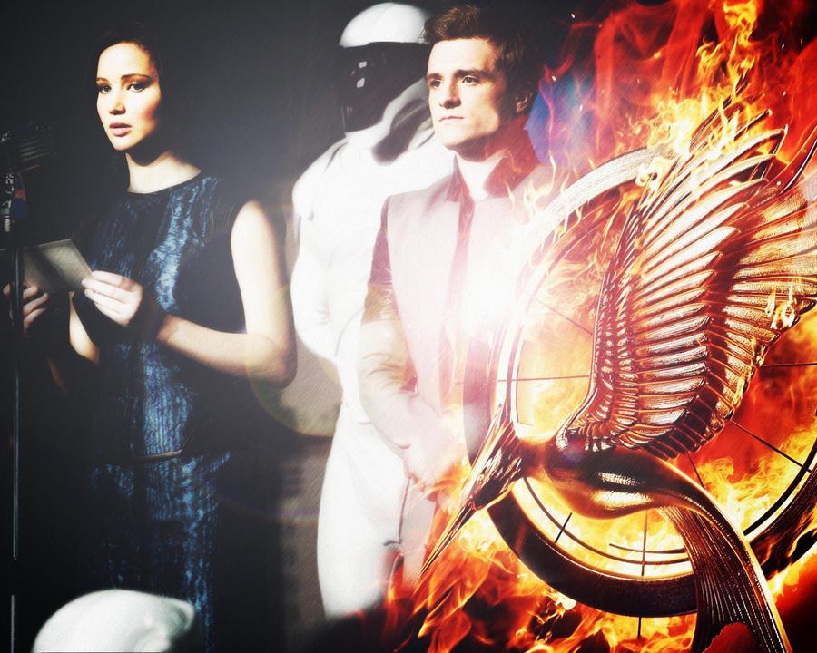 Catching Fire: Peeta - Katniss by NightHunter93 on DeviantArt