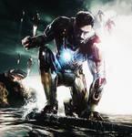 Tony Stark. Iron man 3. Broken