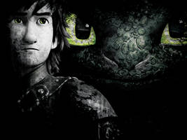 How to Train Your Dragon 2. Hiccup and Toothless by StalkerAE