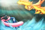 Mega Charizard Y vs Ash Greninja