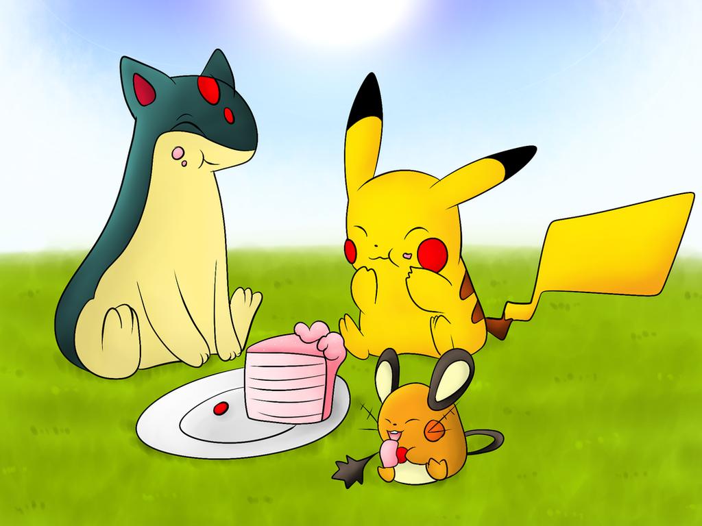 Eating cake by DarkrexS