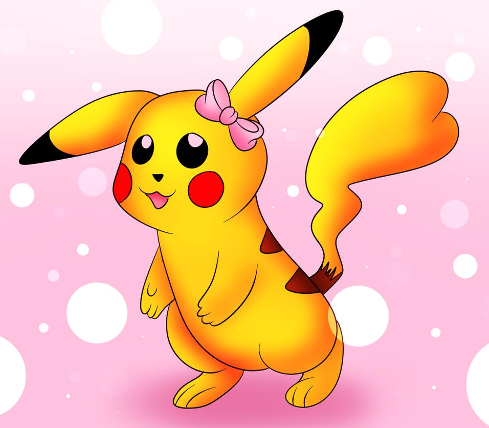 Female Pikachu by DarkrexS