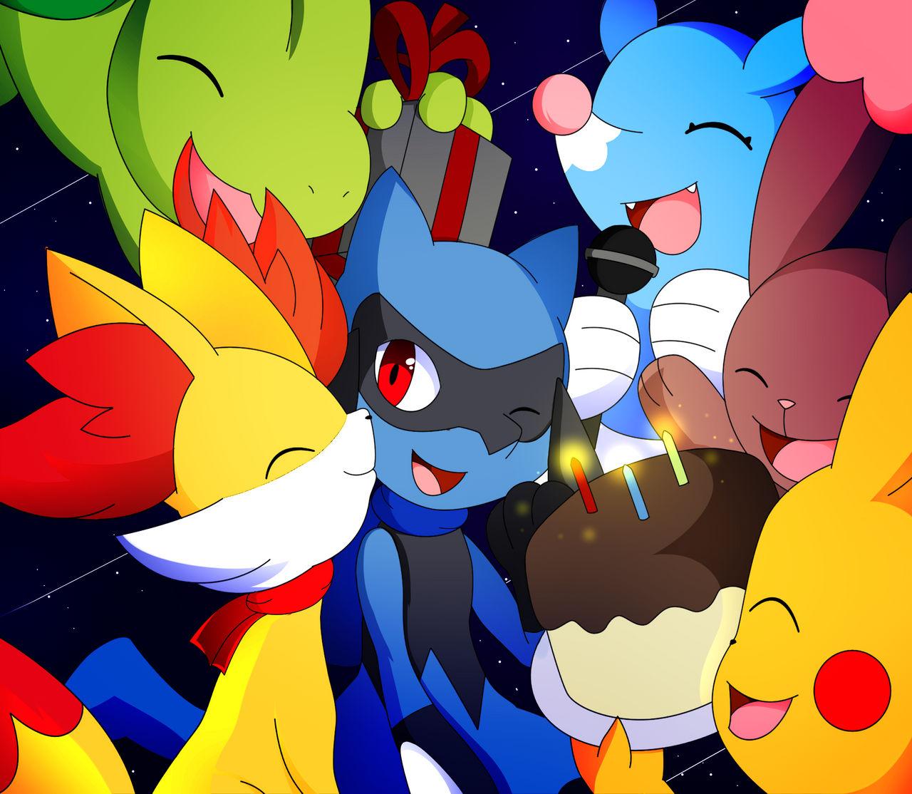Happy Birthday Riolu by DarkrexS on DeviantArt