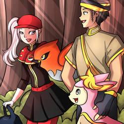 Edelgard and Claude Pokemon Trainers