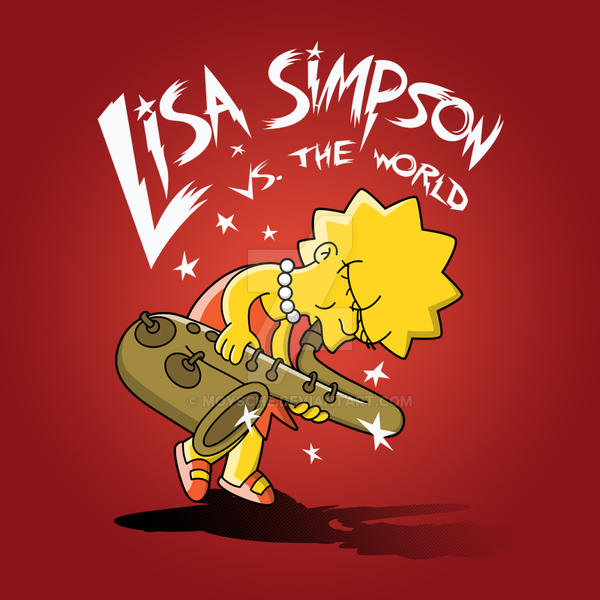 Lisa Simpson Vs. The World by Moysche