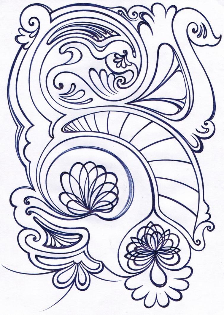 cypress arabesque motif by amin anim on deviantart. Black Bedroom Furniture Sets. Home Design Ideas