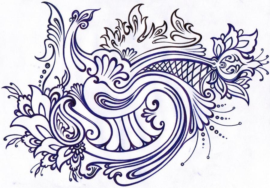 نقاشی حاشیه گل khatai-slow-motion by amin-anim on DeviantArt