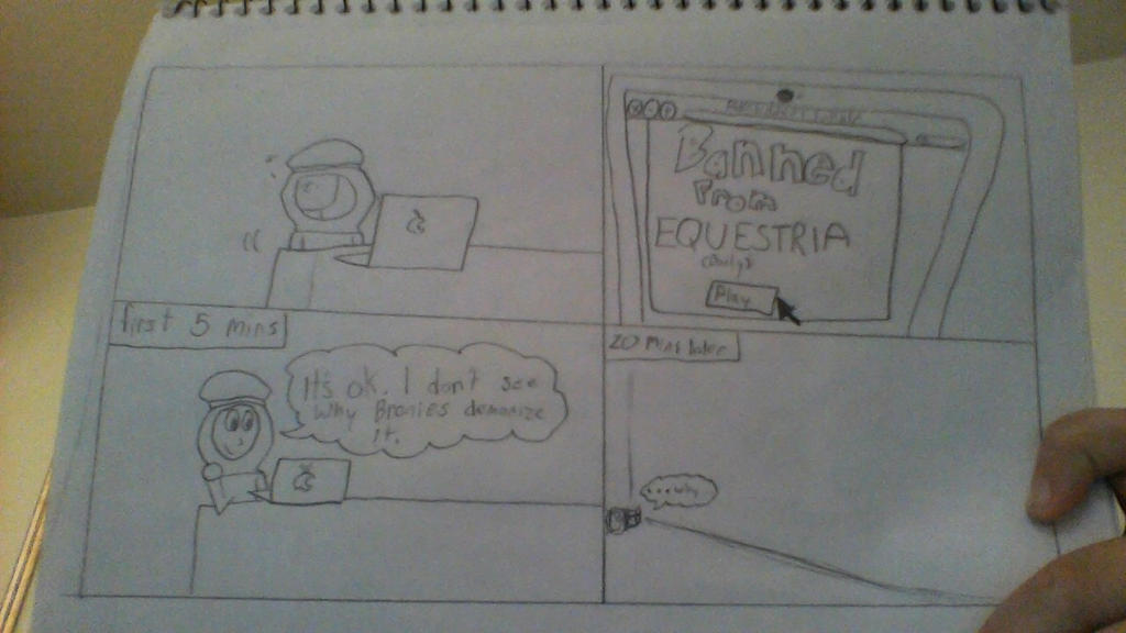 Stephano plays banned from equestria daily by JaniceTheFurry on