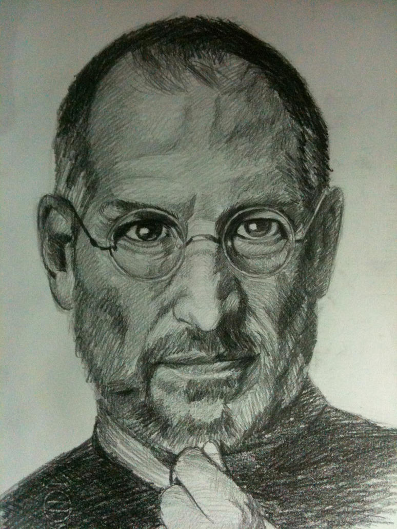 Steve Jobs portrait by Sadist-29