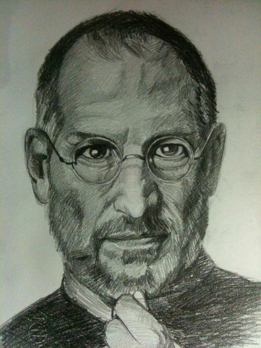 Steve Jobs portrait by Sadist-29