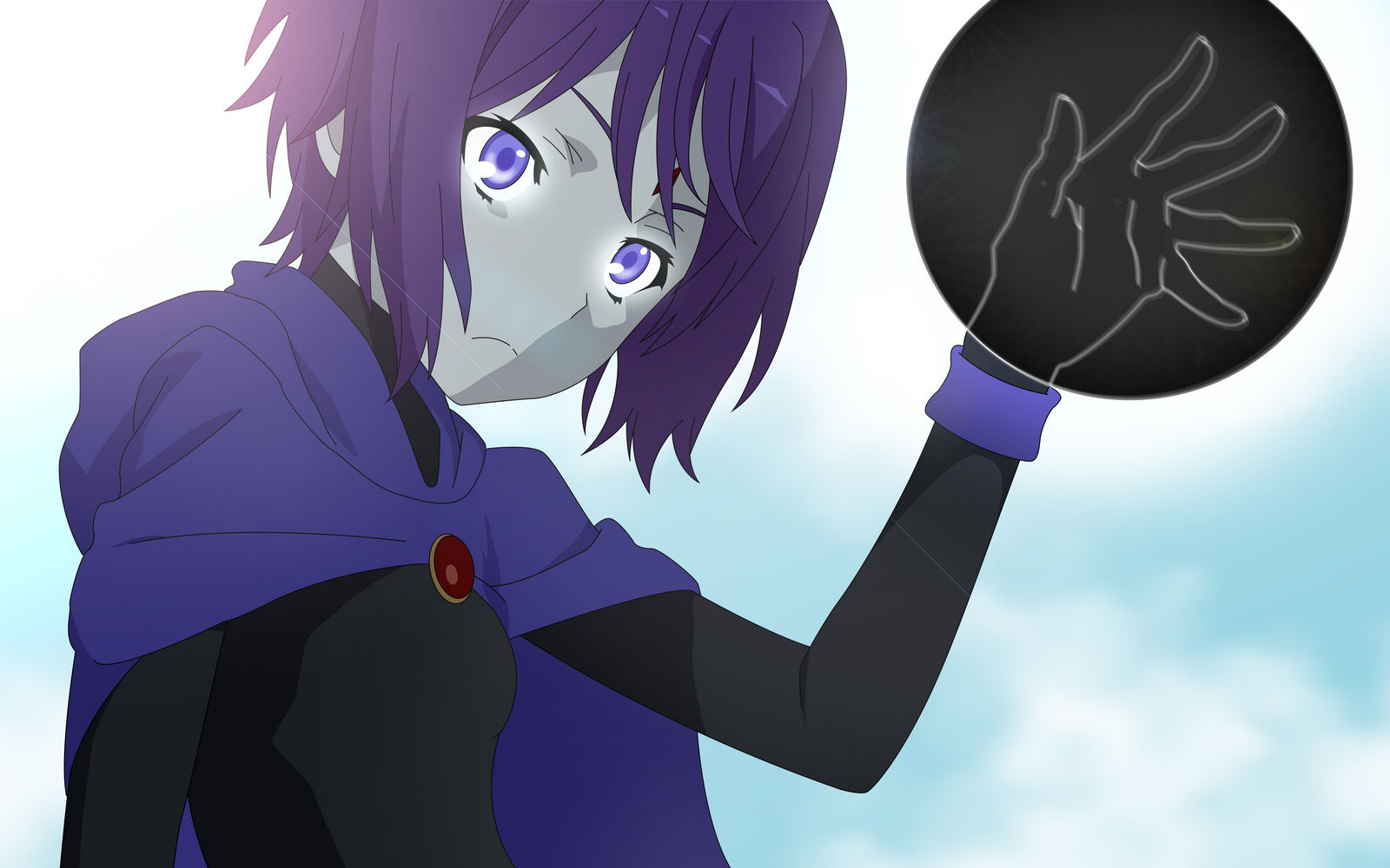 young raven anime  teen titans  wallpaper  by sgcassidy d73uftq