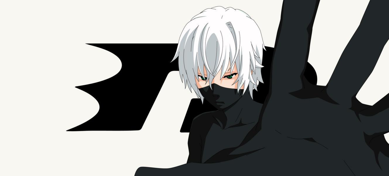 Dark Phantom White BackgroundAnime By Sgcassidy