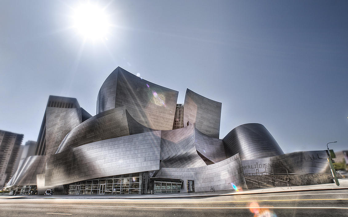 Disney Concert Hall Wallpaper by Dilznacka
