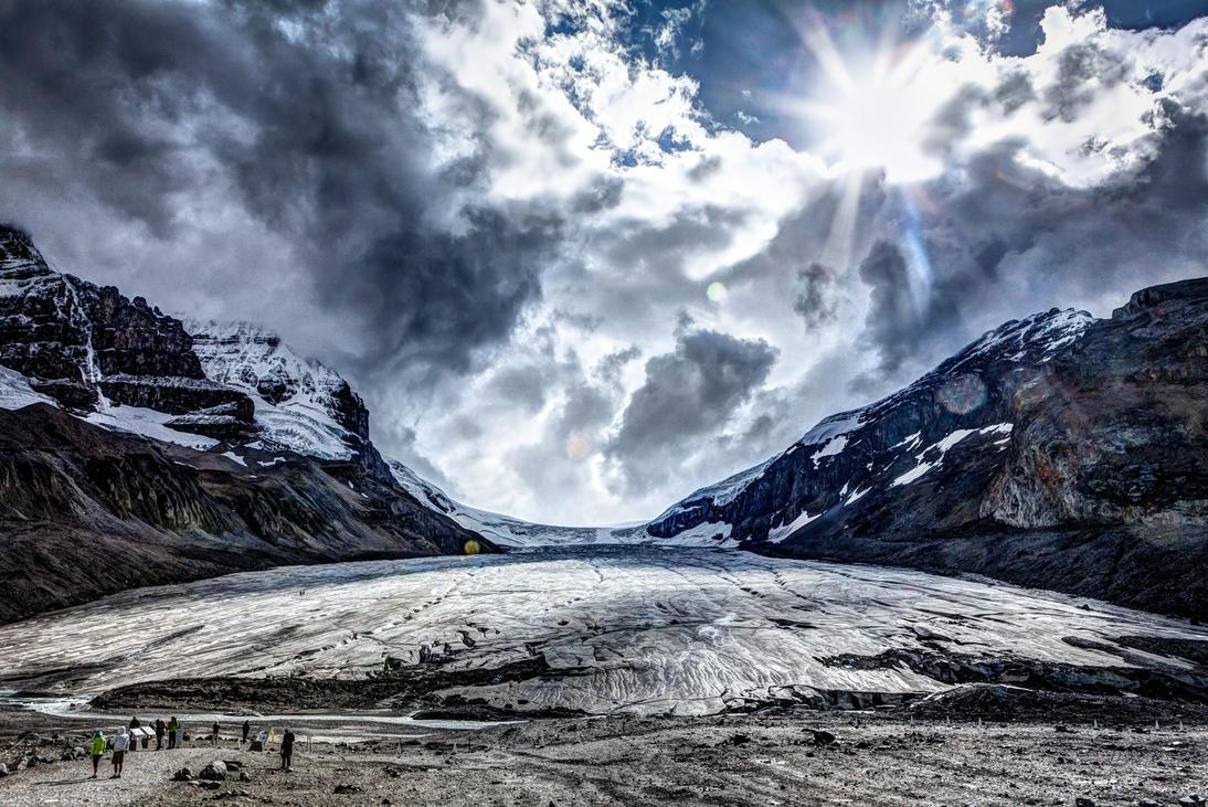 Athabasca Glacier by Dilznacka