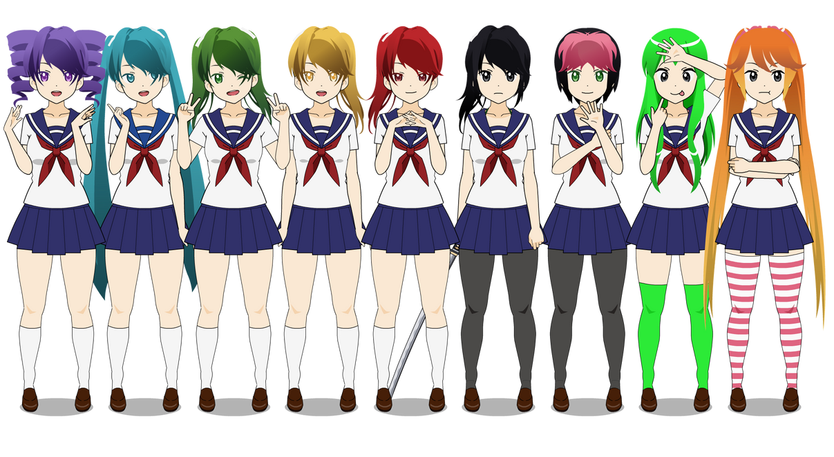 Anime Characters Yandere : Yandere simulator characters all related keywords