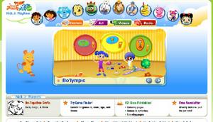 The Nick Jr 2006 Playtime Remastered Website