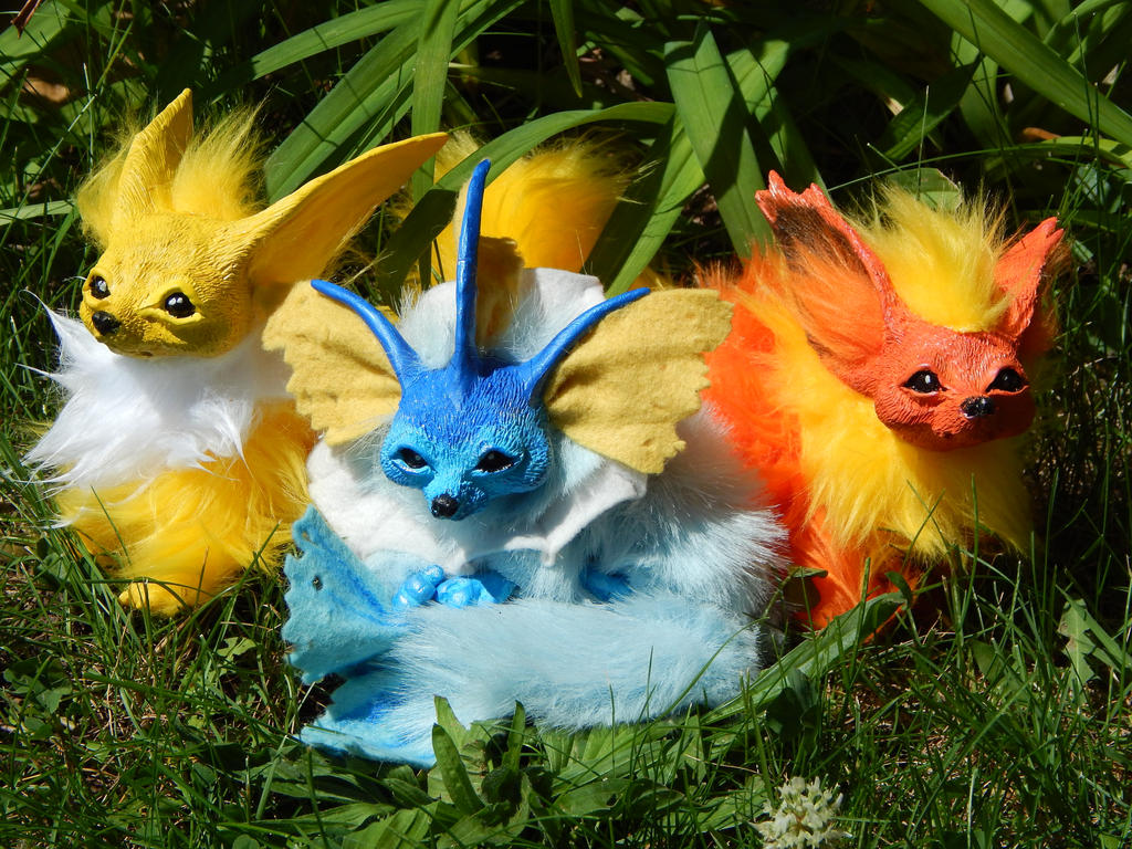 eevee evolutions pokemon art dolls by dlchart on deviantart