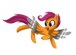 Commission: Scootaloo Metal Wings