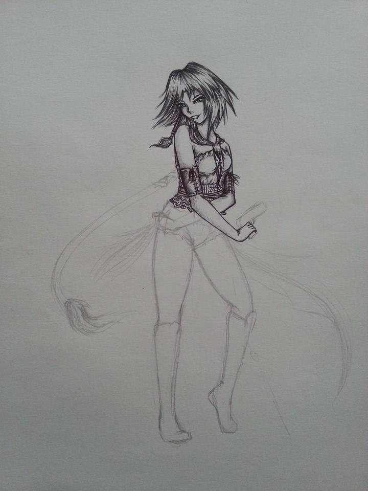 Yuna WIP by CloakedSchemer-VI
