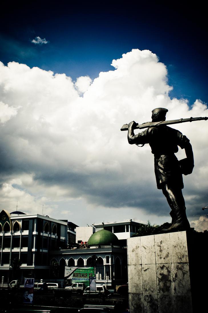 patung tentara pelajar pejuang by teguhrams
