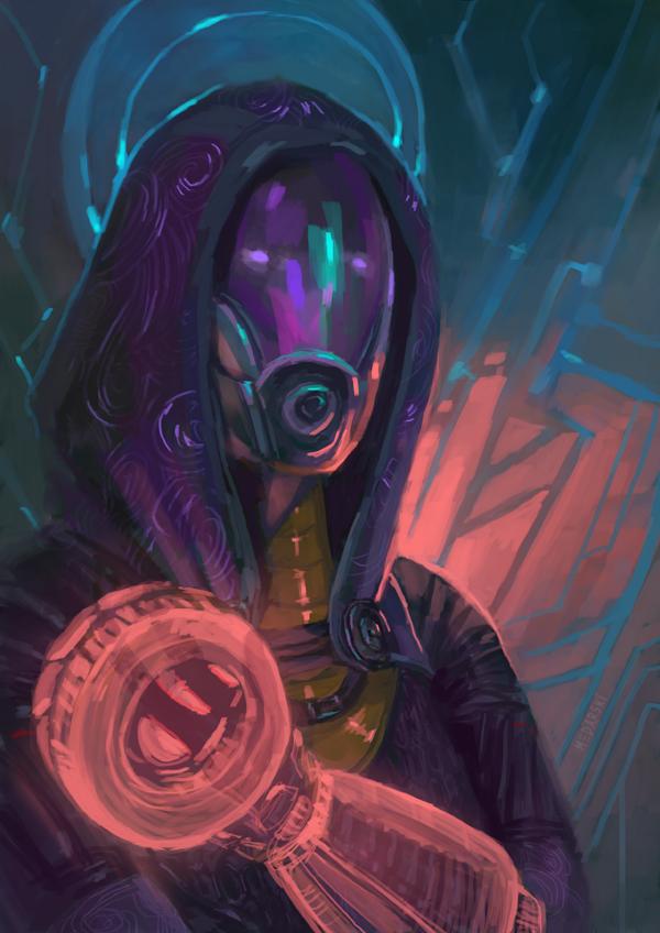 Tali (Mass Effect) by Lynaiss