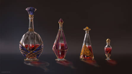 Healing Potion Designs by Lynaiss
