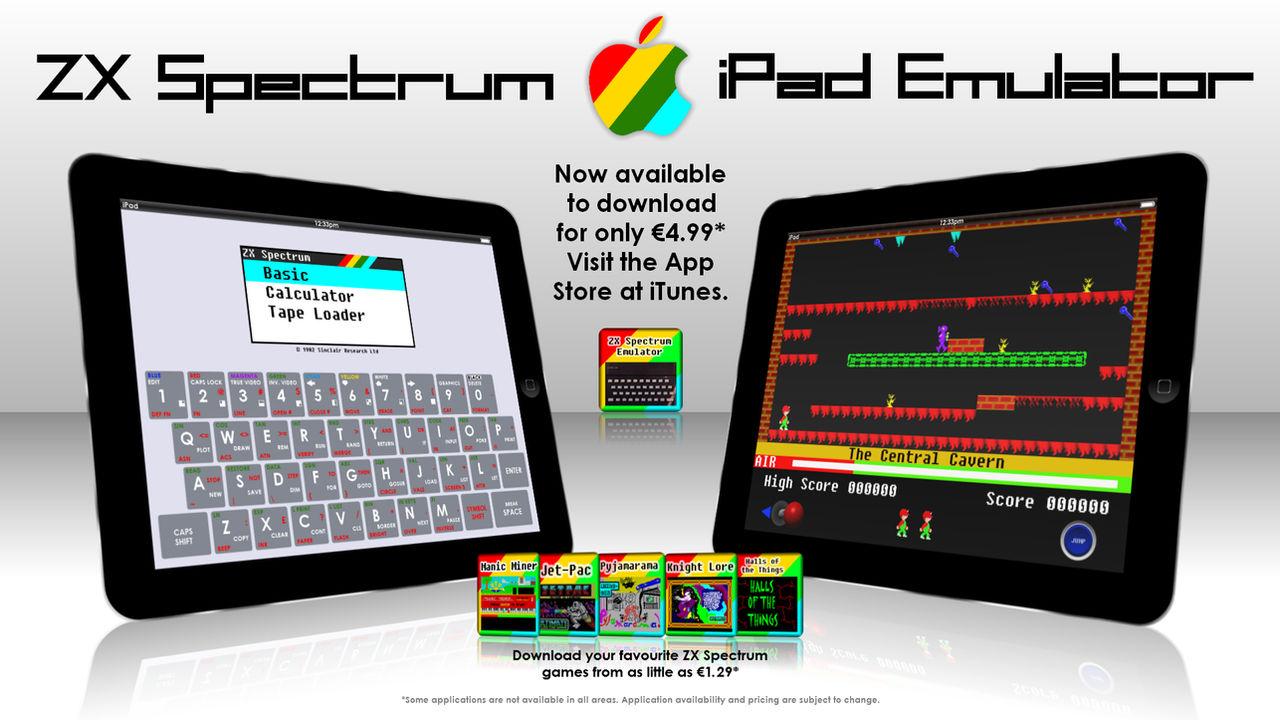 iPad ZX Spectrum Emulator App