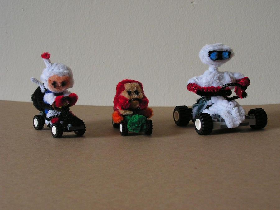 Bomberman, Waddle Dee, R.O.B by fuzzyfigureguy
