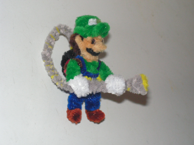 Luigi with ghost pack by fuzzyfigureguy