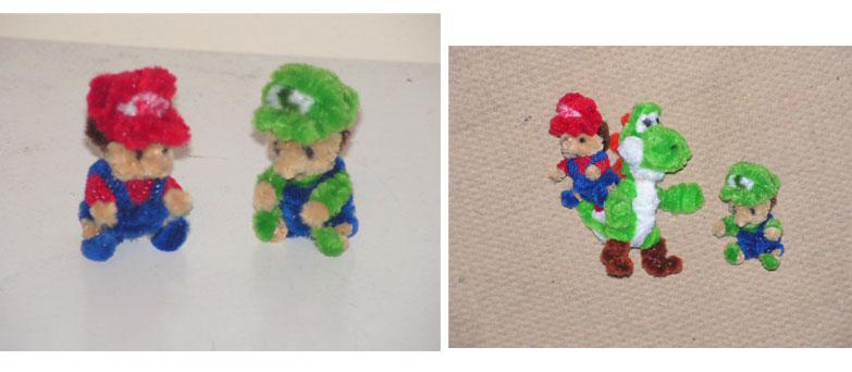 Baby Mario and Luigi by fuzzyfigureguy
