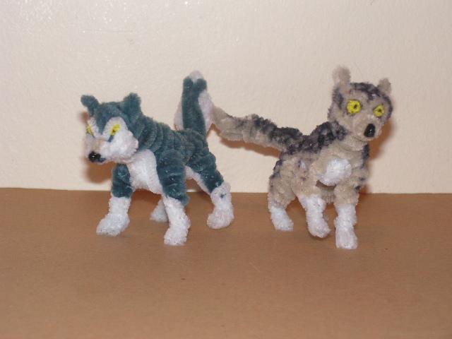 Wolves by fuzzyfigureguy