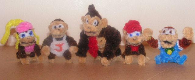 Donkey Kong and the gang by fuzzyfigureguy