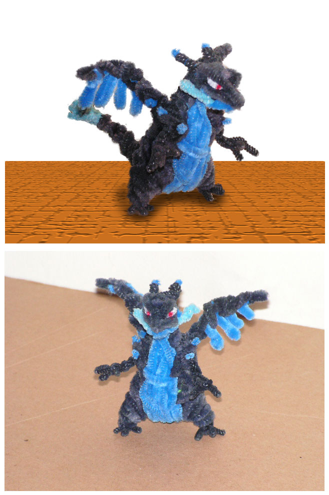 Mega Charizard X by fuzzyfigureguy