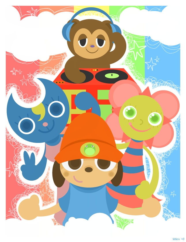 Parappa and Crew by Child-Of-Neglect