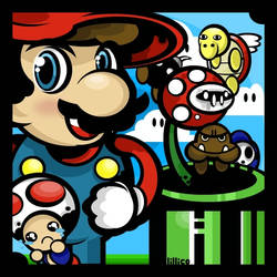 supa mario by Child-Of-Neglect