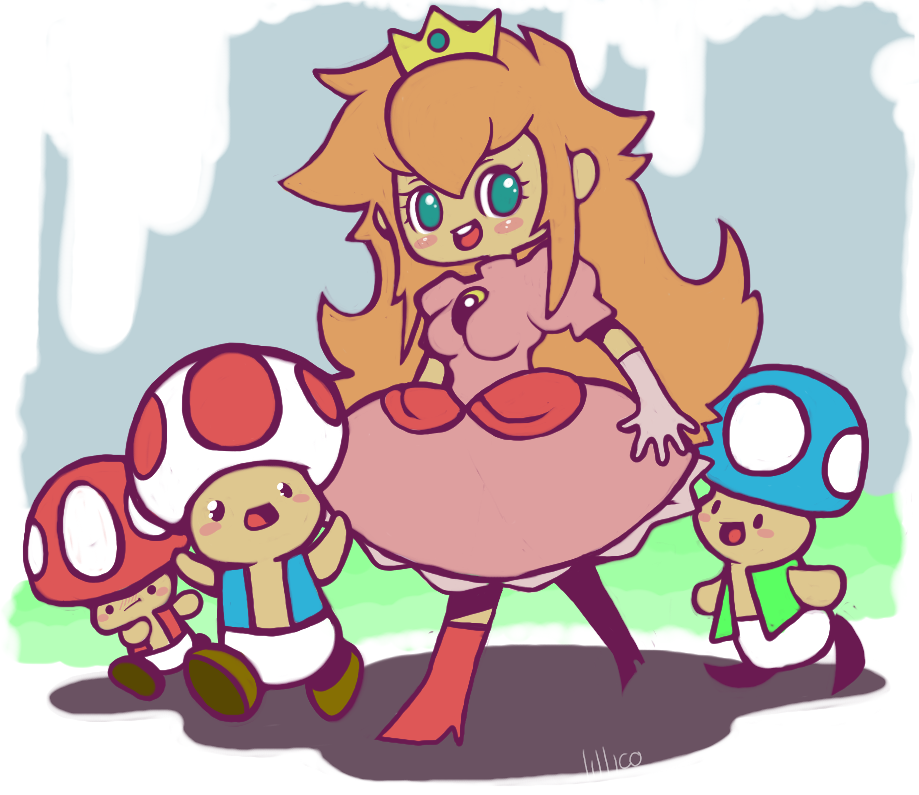 mushroom kingdom by Child-Of-Neglect