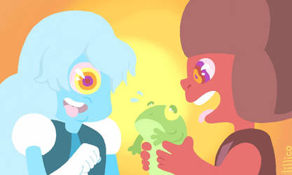 ruby and sapphire lick frogs