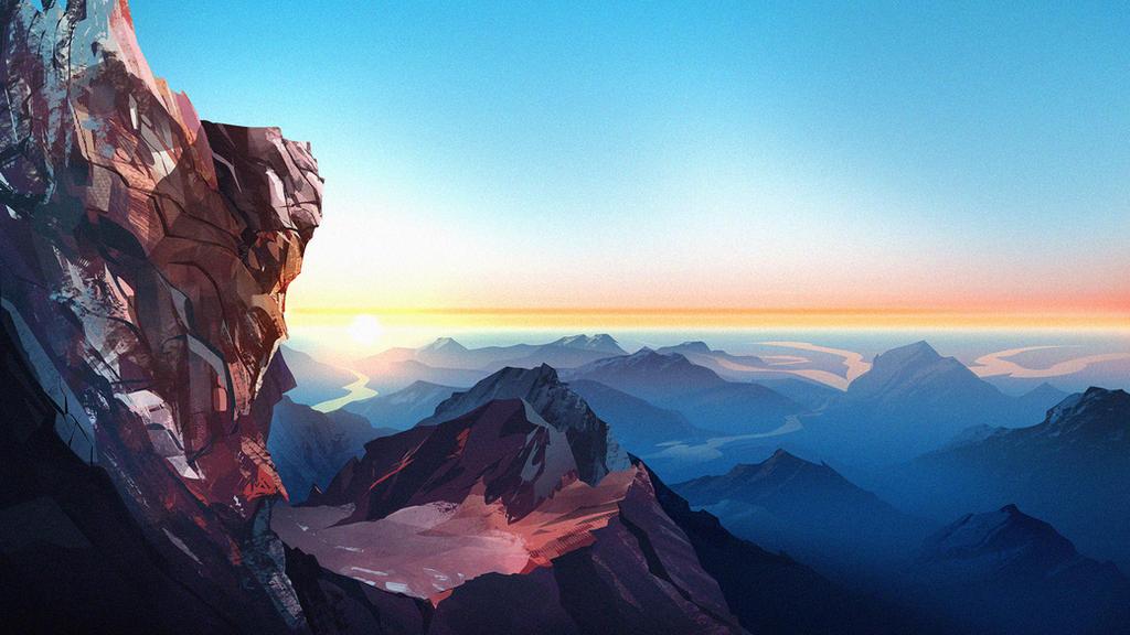 env mountain sunset by spiridt