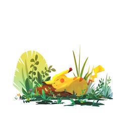 sleeping pikachu by spiridt