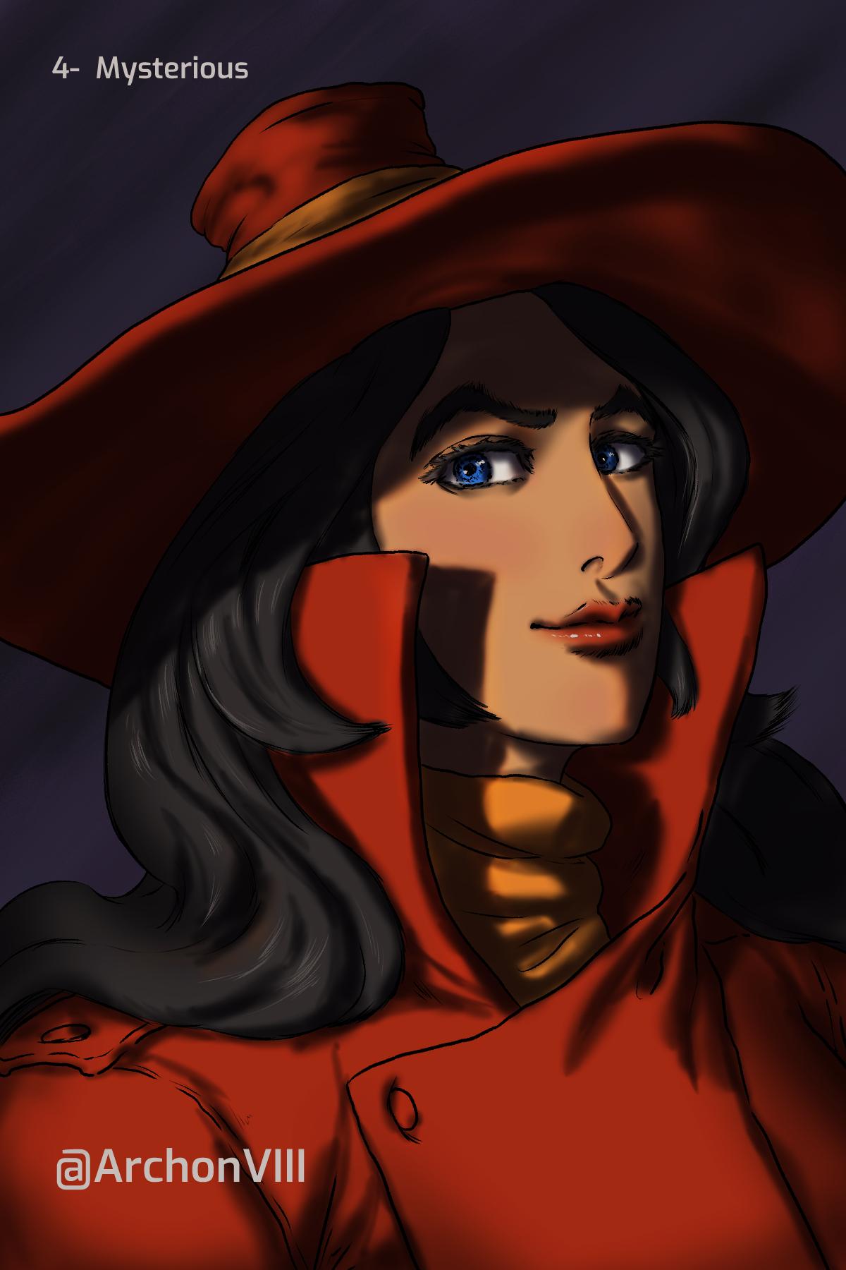 #28PortraitChallenge 04 (Carmen Sandiego fanart)